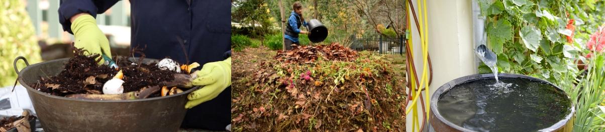 Compost y Barril de lluvia - Imagen